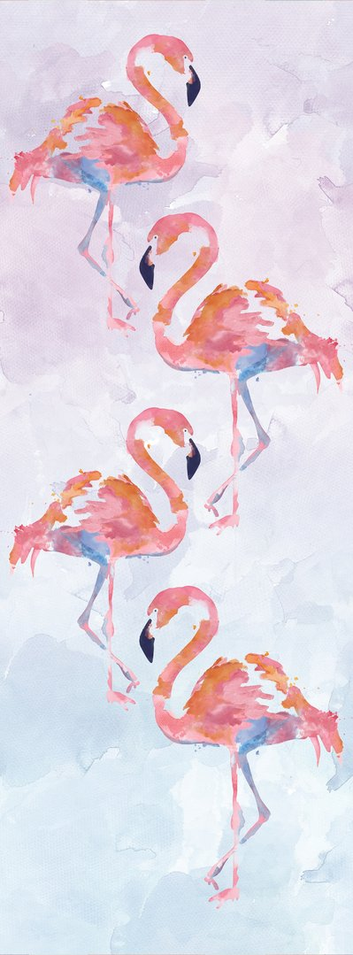 Vilo Motivo PAINTED FLAMINGO - 2650mm (pack of 3 panels) Fun Range